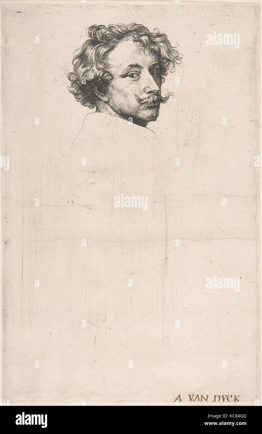 Self-Portrait, from The Iconography, Anthony van Dyck, ca. 1630 - Stock Image