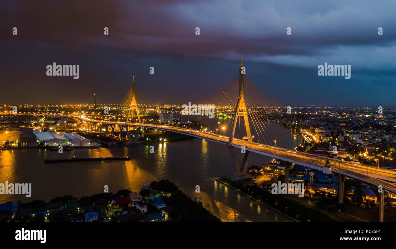 Rama 9 Bridge In Thailand The Landmark The Symbol Is The Symbol Of