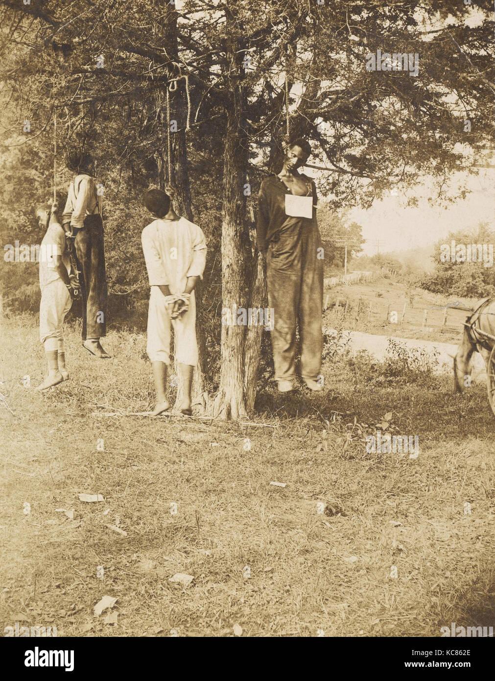 Lynching, Russellville, Kentucky, Minor B. Wade, 1908 - Stock Image