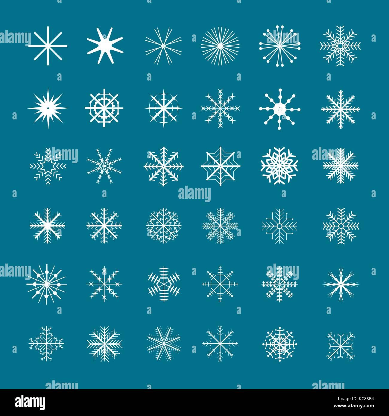 Christmas Snowflake set - Stock Image