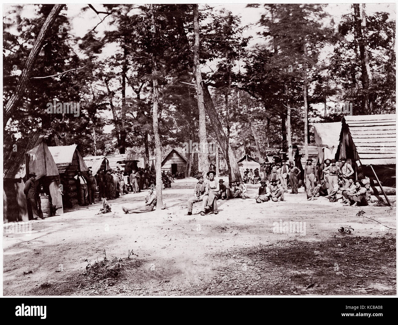 Co. E, 21st Michigan Infantry. Sherman's Volunteers, 1861–65 - Stock Image
