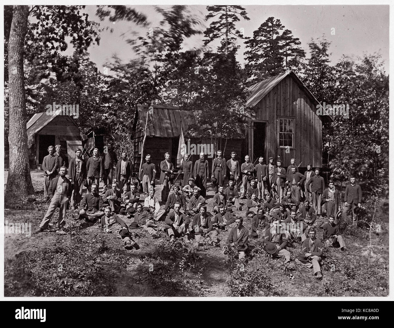 Co. D, 21st Michigan Infantry. Sherman's Volunteers, 1861–65 - Stock Image