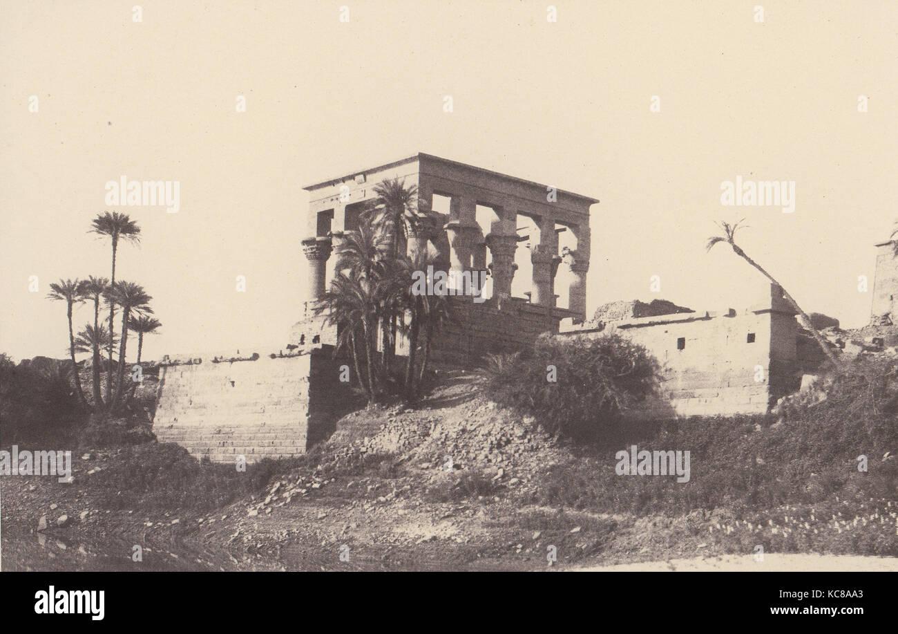 Ile de Fîleh (Philæ), Édifice de l'Est - Vue Générale Prise du Point C, Félix - Stock Image