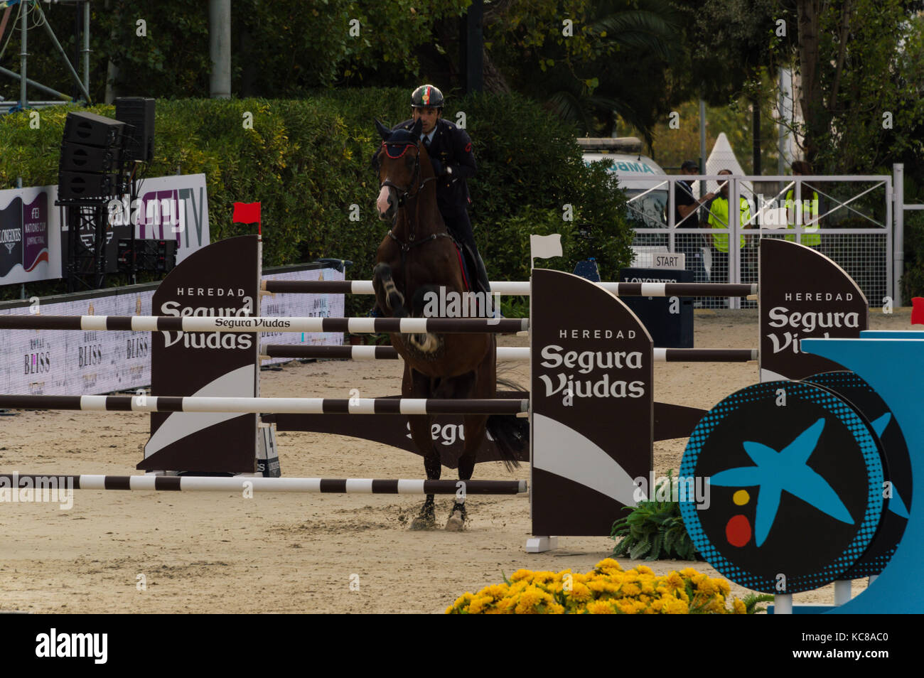 Longines FEI nations cup jumping final, Barcelona Stock Photo