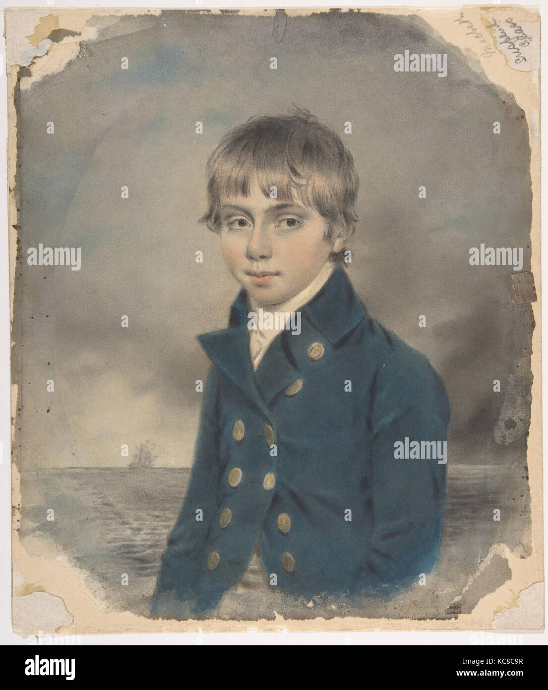 Memento Portrait of a Young Midship-Man, John Downman, late 18th–early 19th century - Stock Image