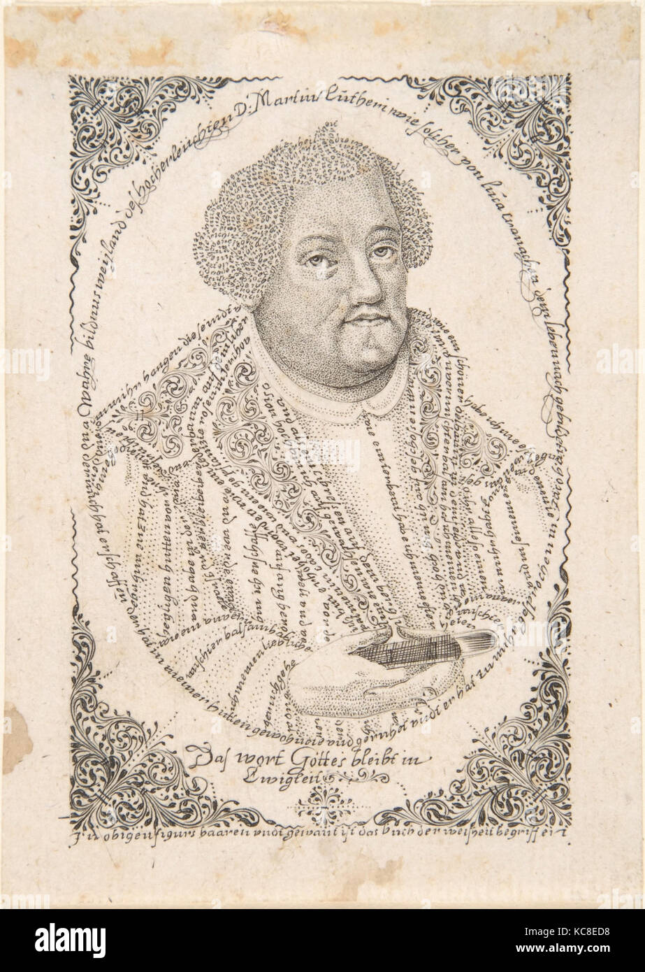 Portrait of Martin Luther, Johann Michael Püchler, late 17th–18th century - Stock Image