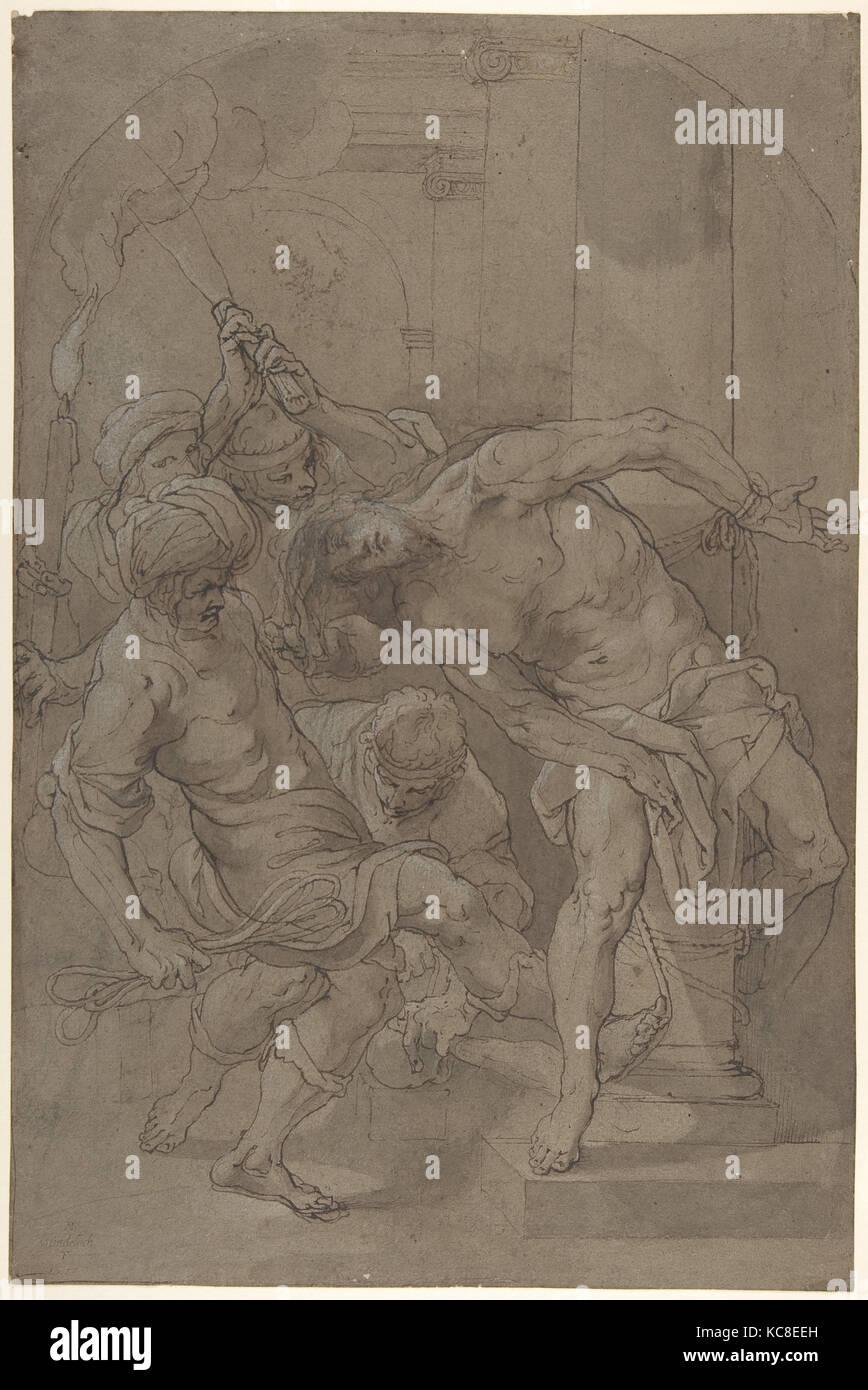 The Flagellation of Christ, Matthäus Gundelach, 1632 Stock Photo