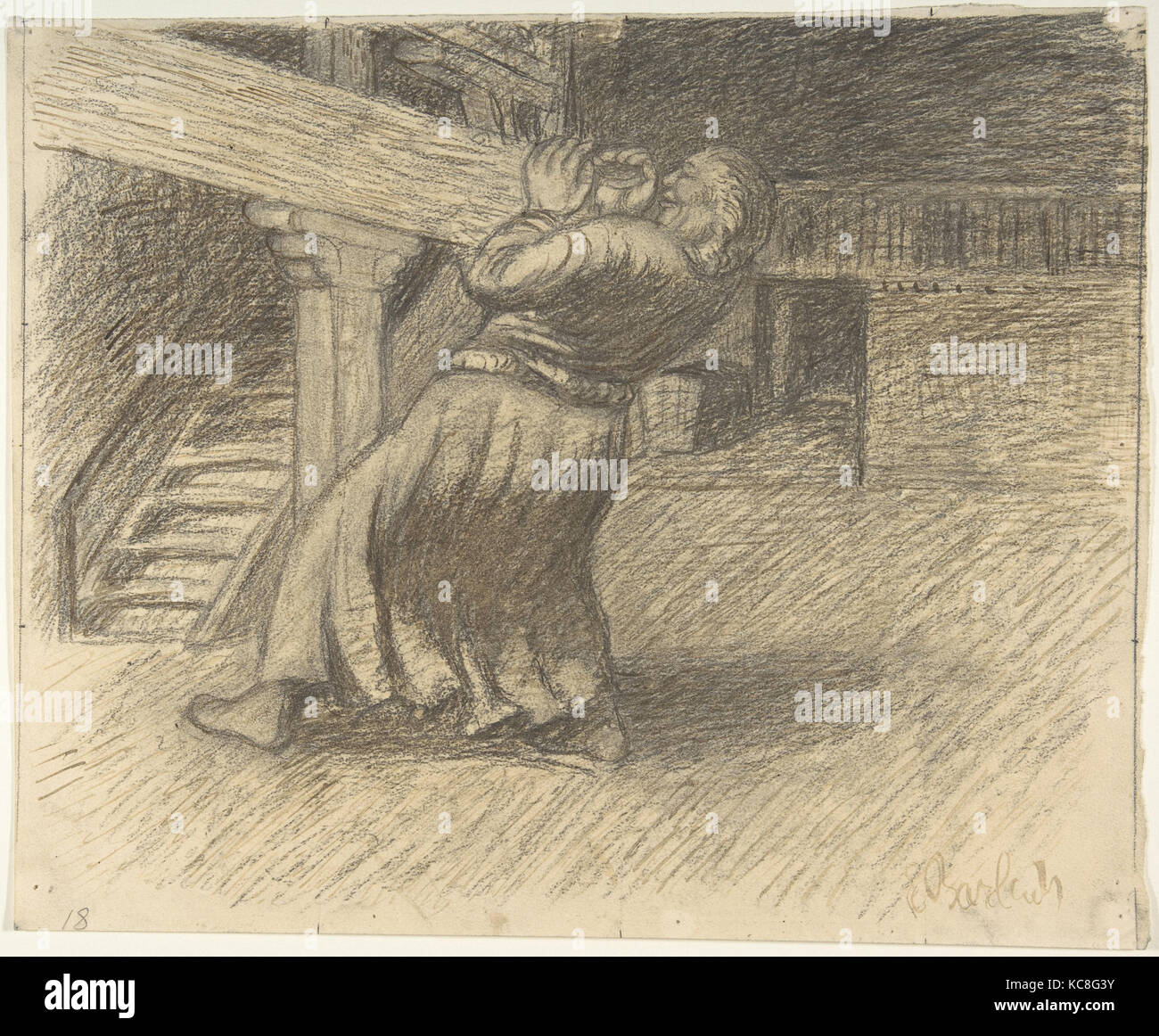 The Invisible, Ernst Barlach, late 19th–mid-20th century - Stock Image