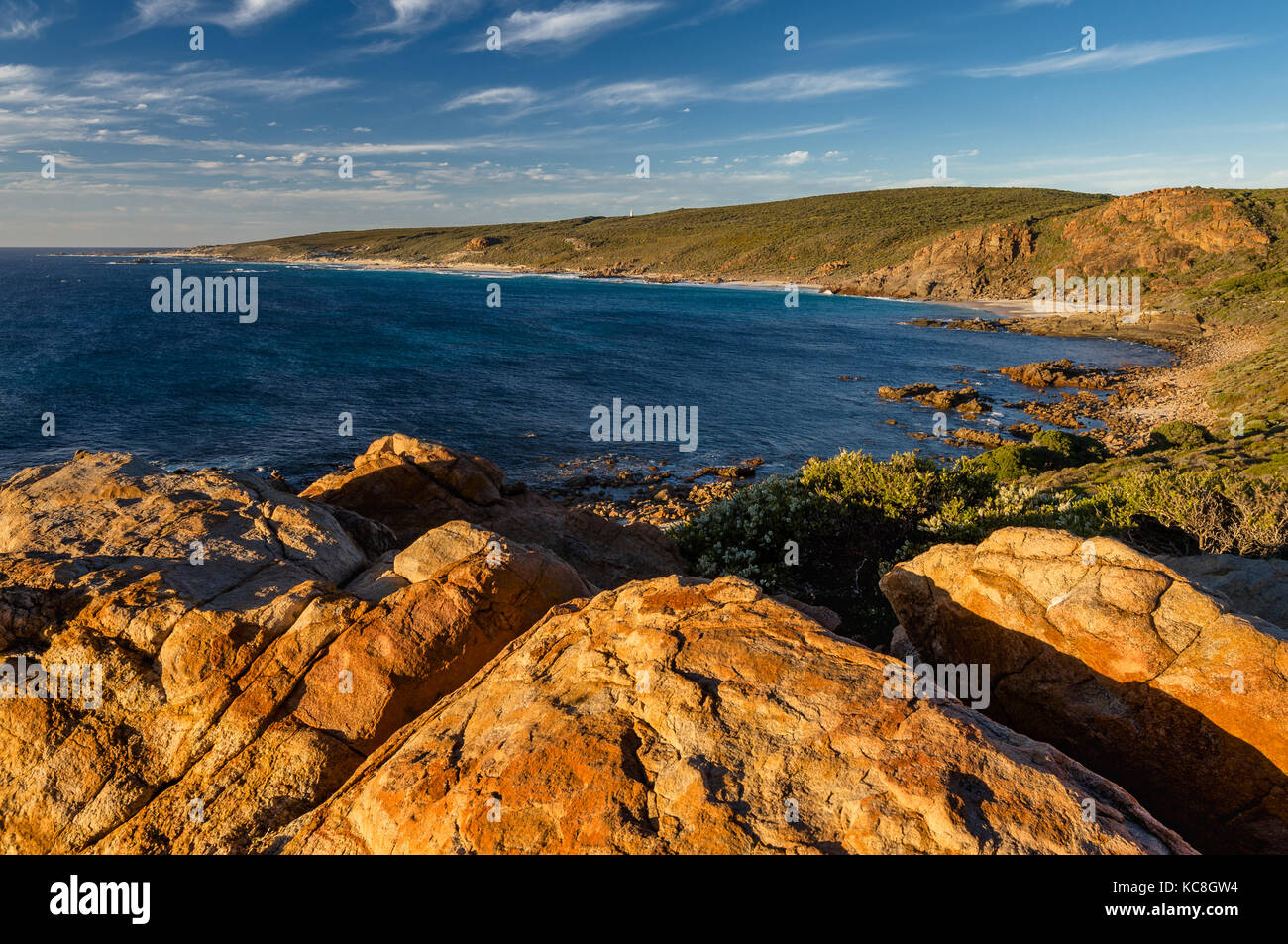 Evening light on Cape Naturaliste in South West Australia. - Stock Image
