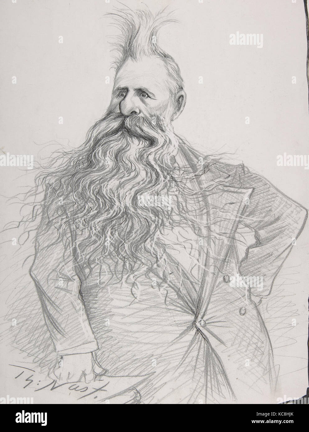 Senator Dolph of Oregon (Joseph Norman Dolph), Thomas Nast, ca. 1894 - Stock Image