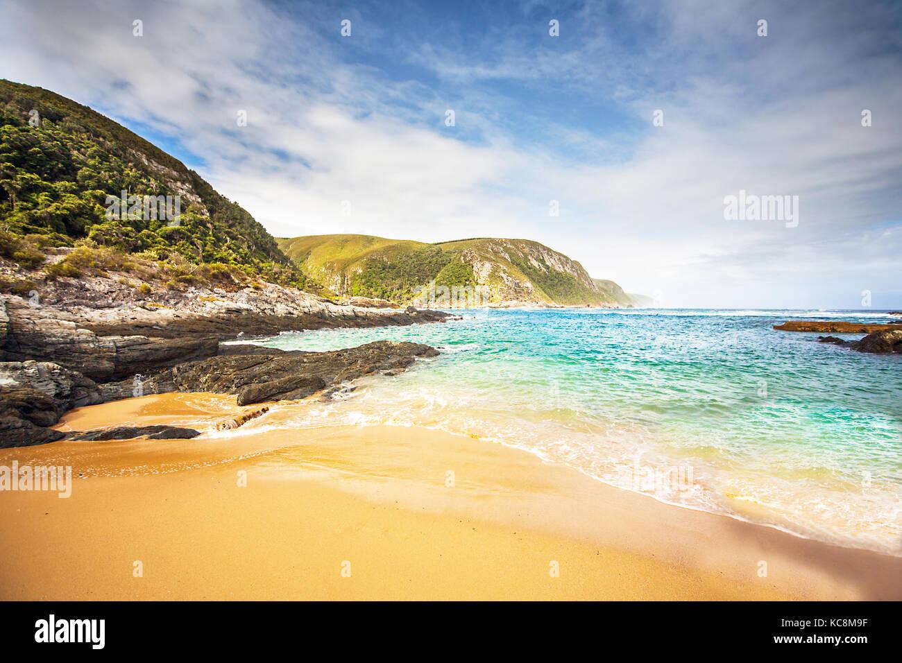 Strand im Tsitsikamma Nationalpark - Stock Image