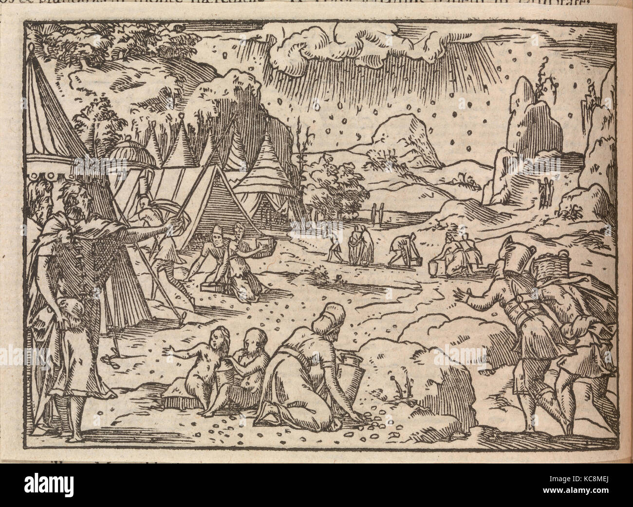 Biblia Sacra. . .Lugduni, Woodcuts by Bernard Salomon, 1554 - Stock Image