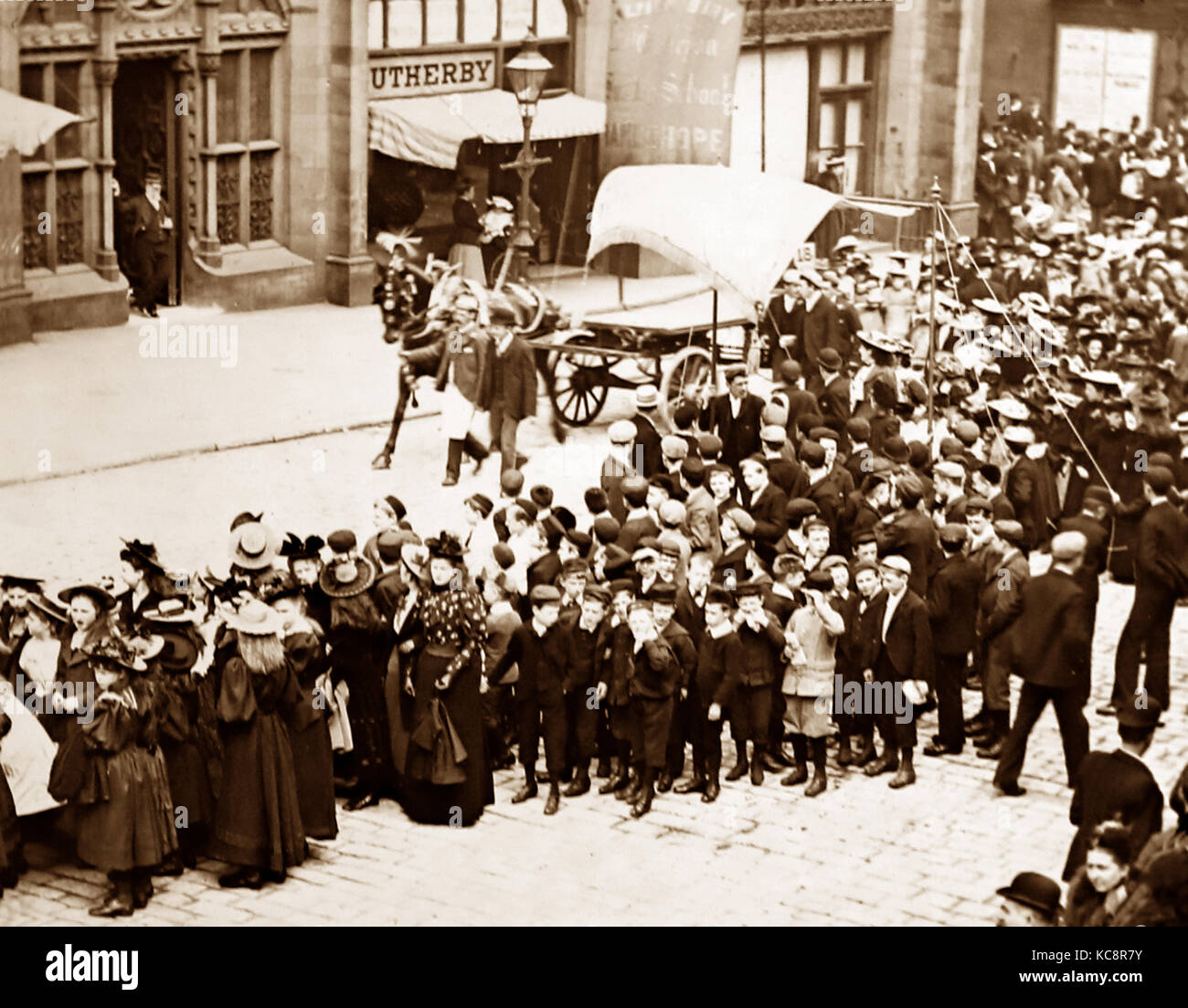 A Christian Endeavour Rally, Victorian period - Stock Image
