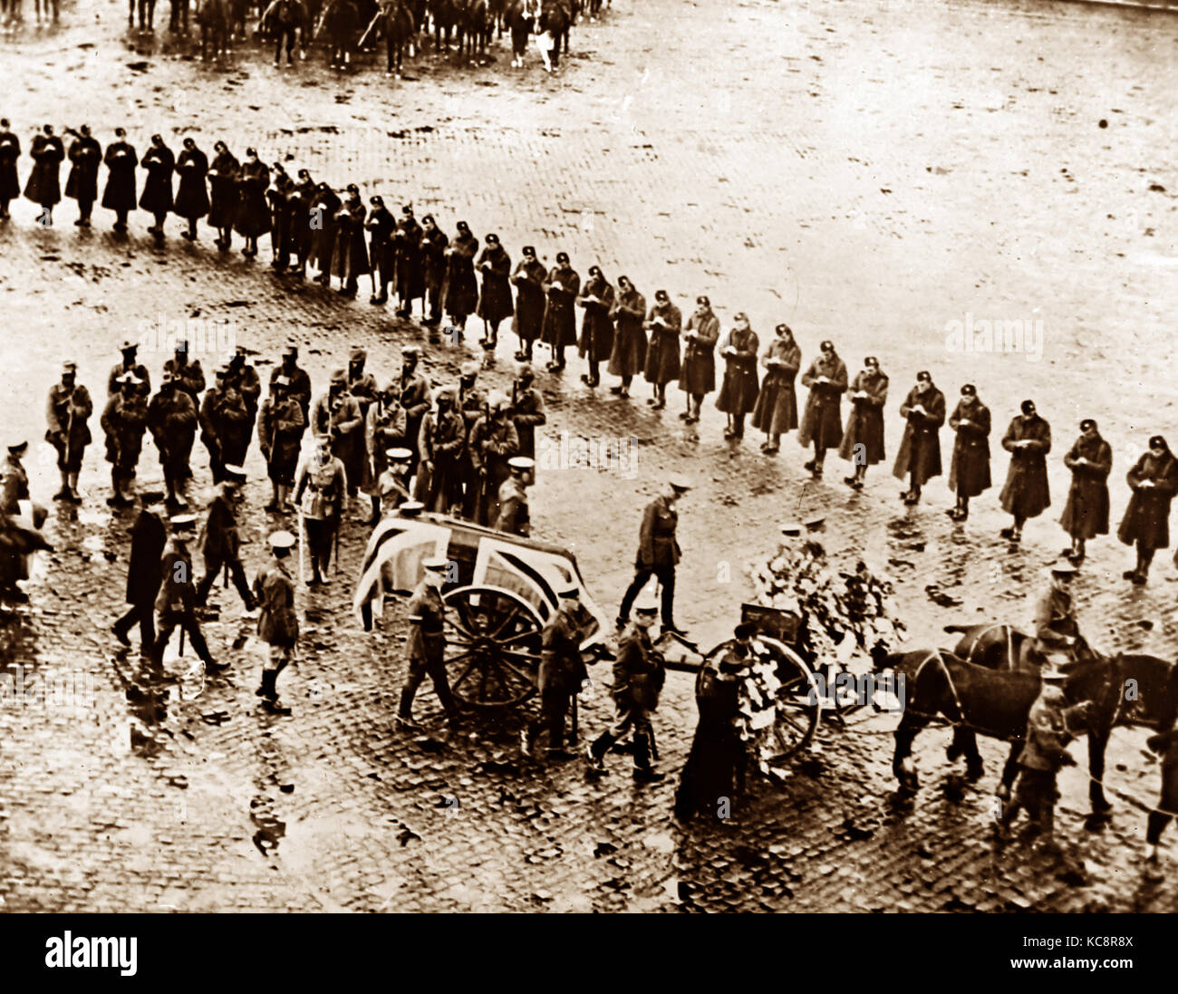 The funeral cortage of Lord Roberts in London in November 1914 - Stock Image