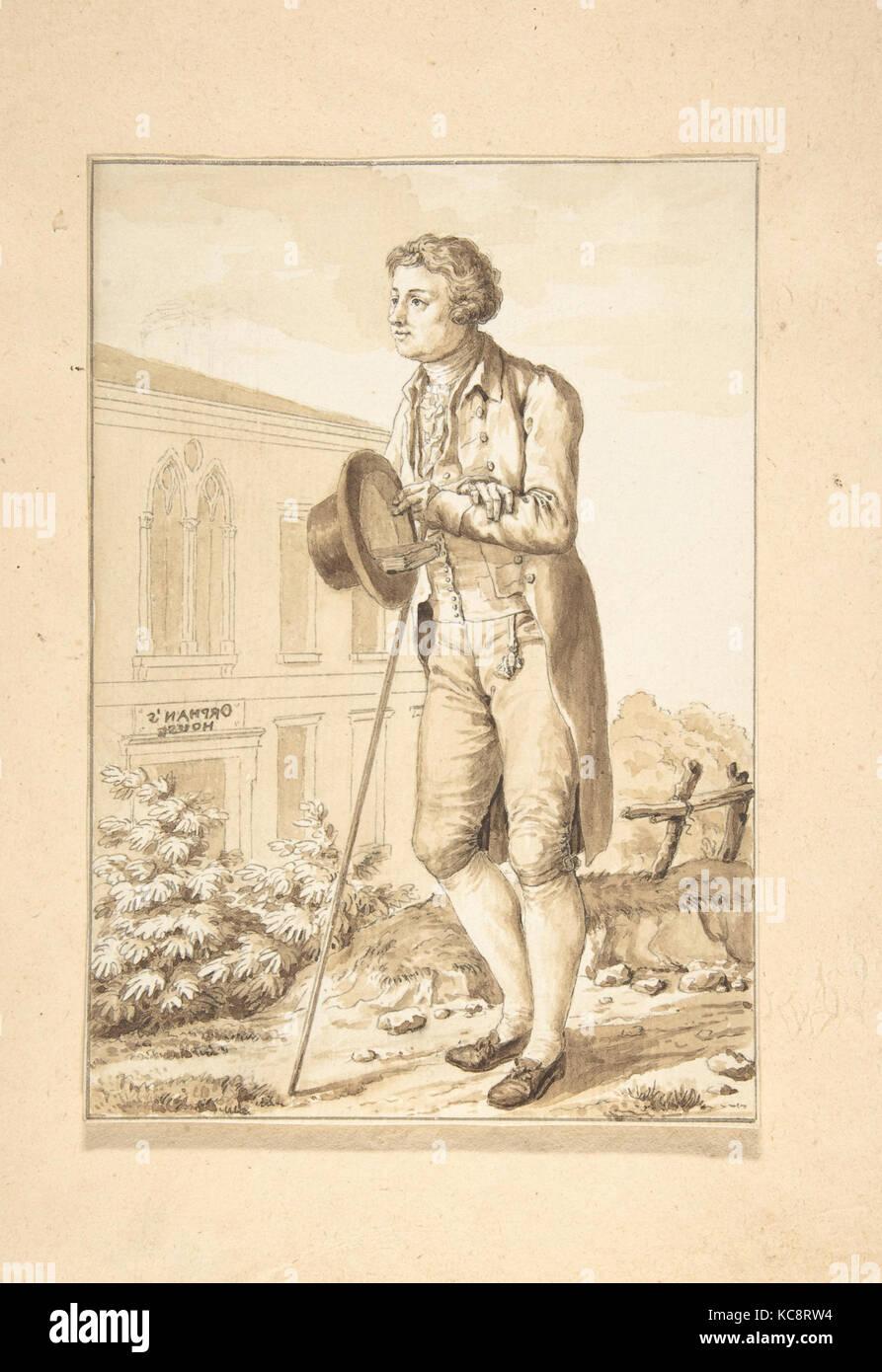 Portrait of Edmond Burke, Antoine Louis François Sergent Marceau, ca. 1815 - Stock Image