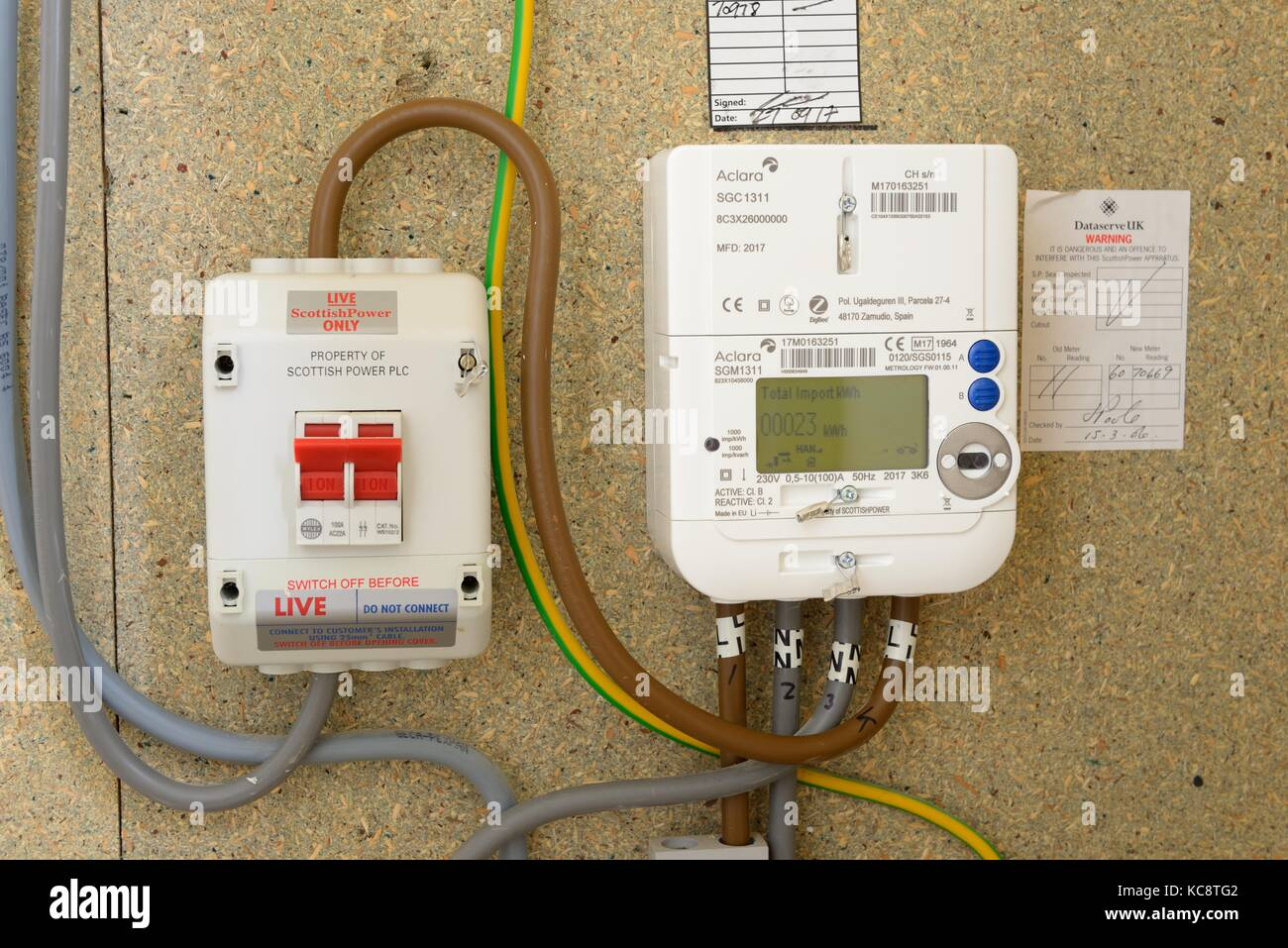 Electric Meter Technology : Smart meter home stock photos