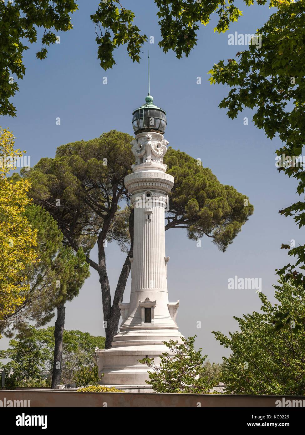 Faro degli italiani d'argentina on Gianicolo Hill in Rome. - Stock Image