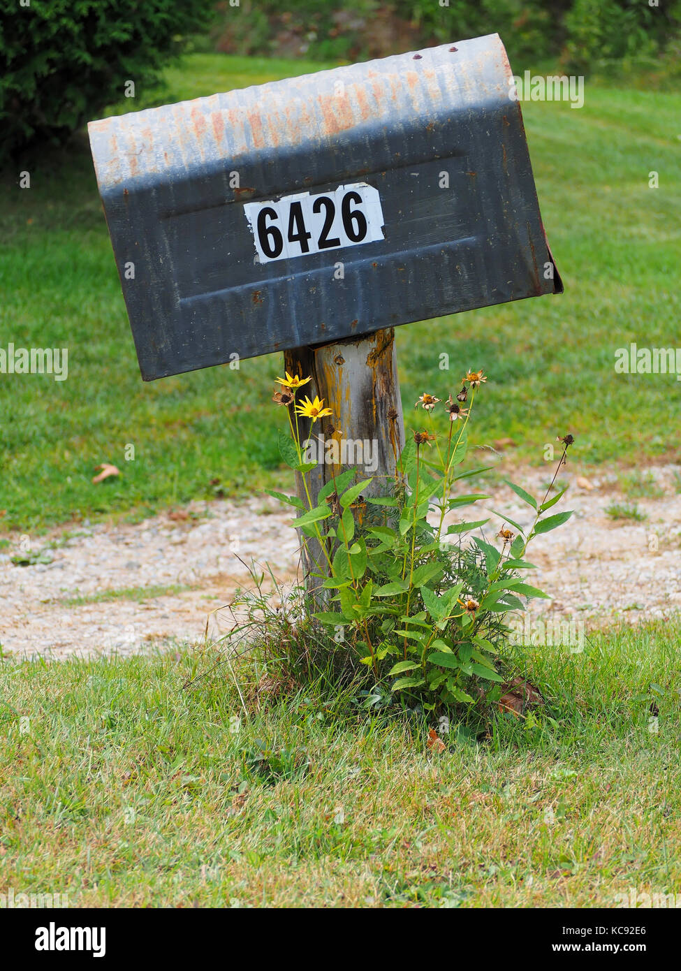 residential mailboxes side view. Metal Residential Mailbox - Stock Image Mailboxes Side View