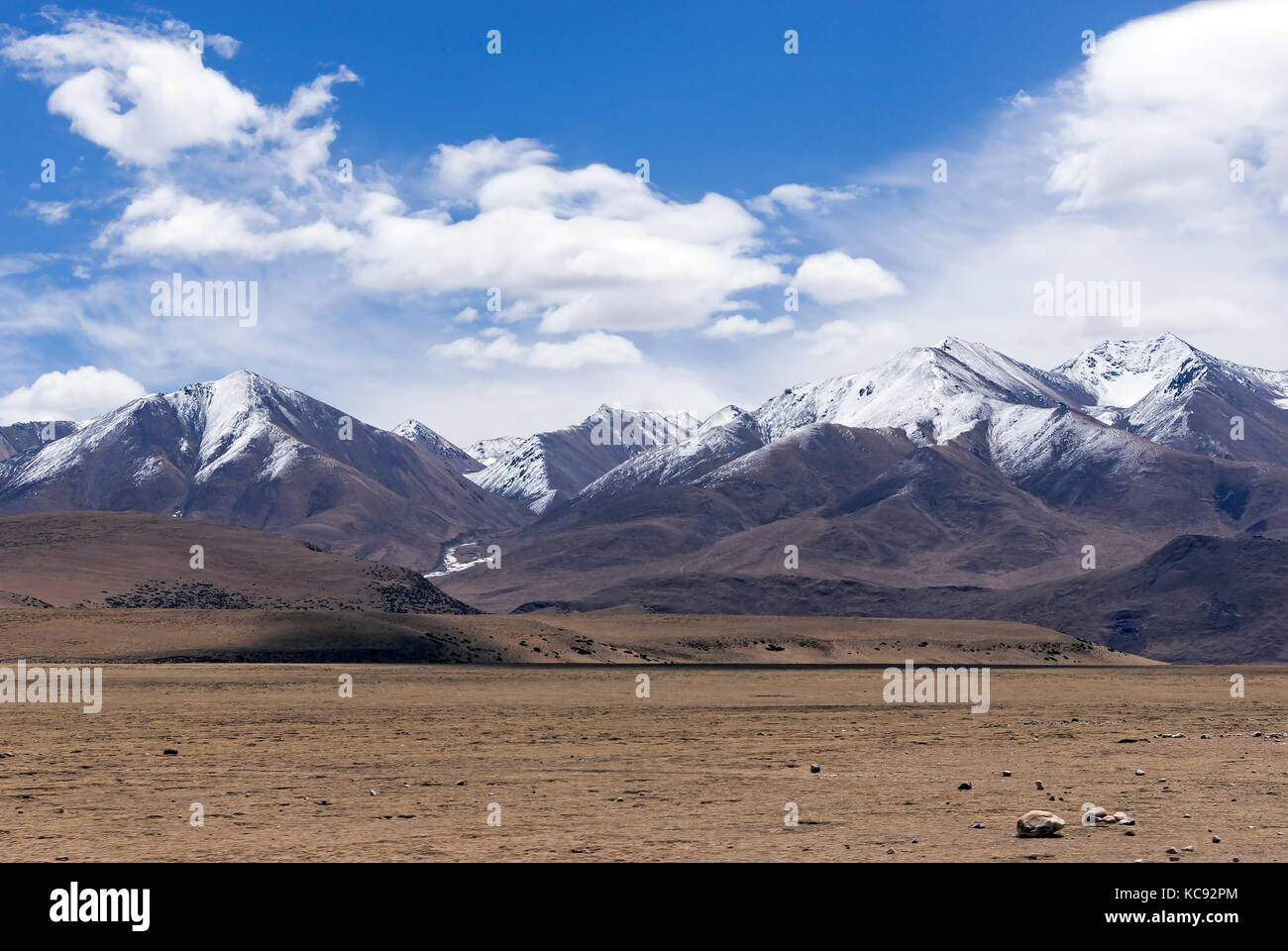 Typical mountain landscape - Tibet - Stock Image