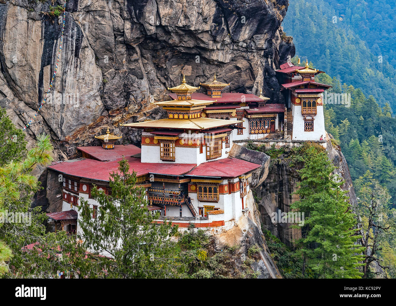 Paro Taktsang: The Tiger's Nest Monastery - Bhutan - Stock Image
