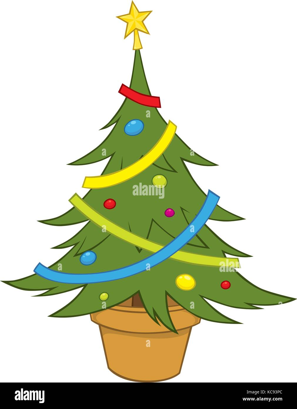 vector illustration of a simple christmas tree stock vector image art alamy https www alamy com stock image vector illustration of a simple christmas tree 162469732 html