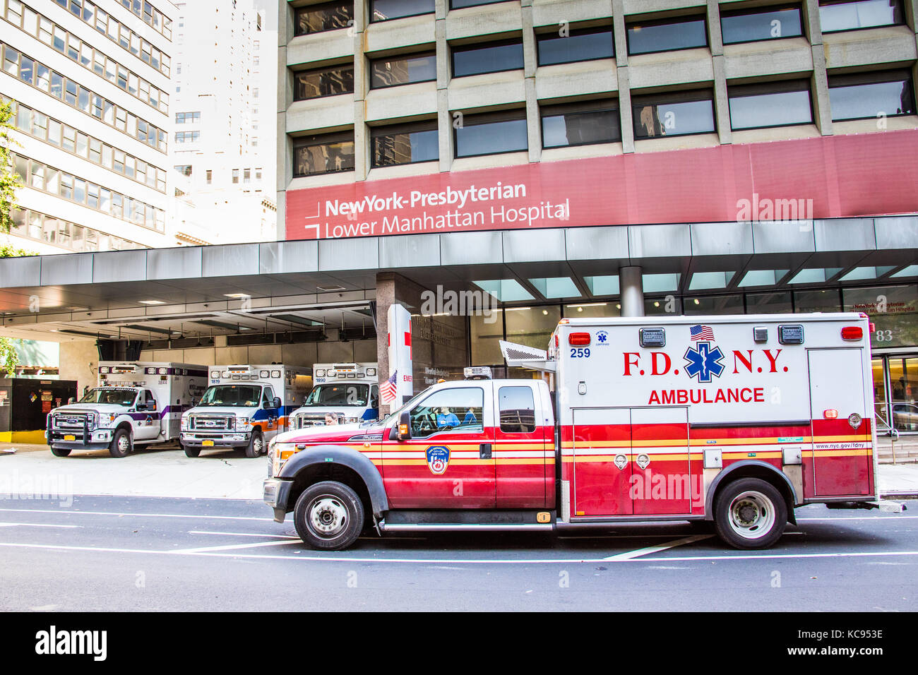 FDNY Ambulance infront of Neww York Presbyterian Hospital, Lower