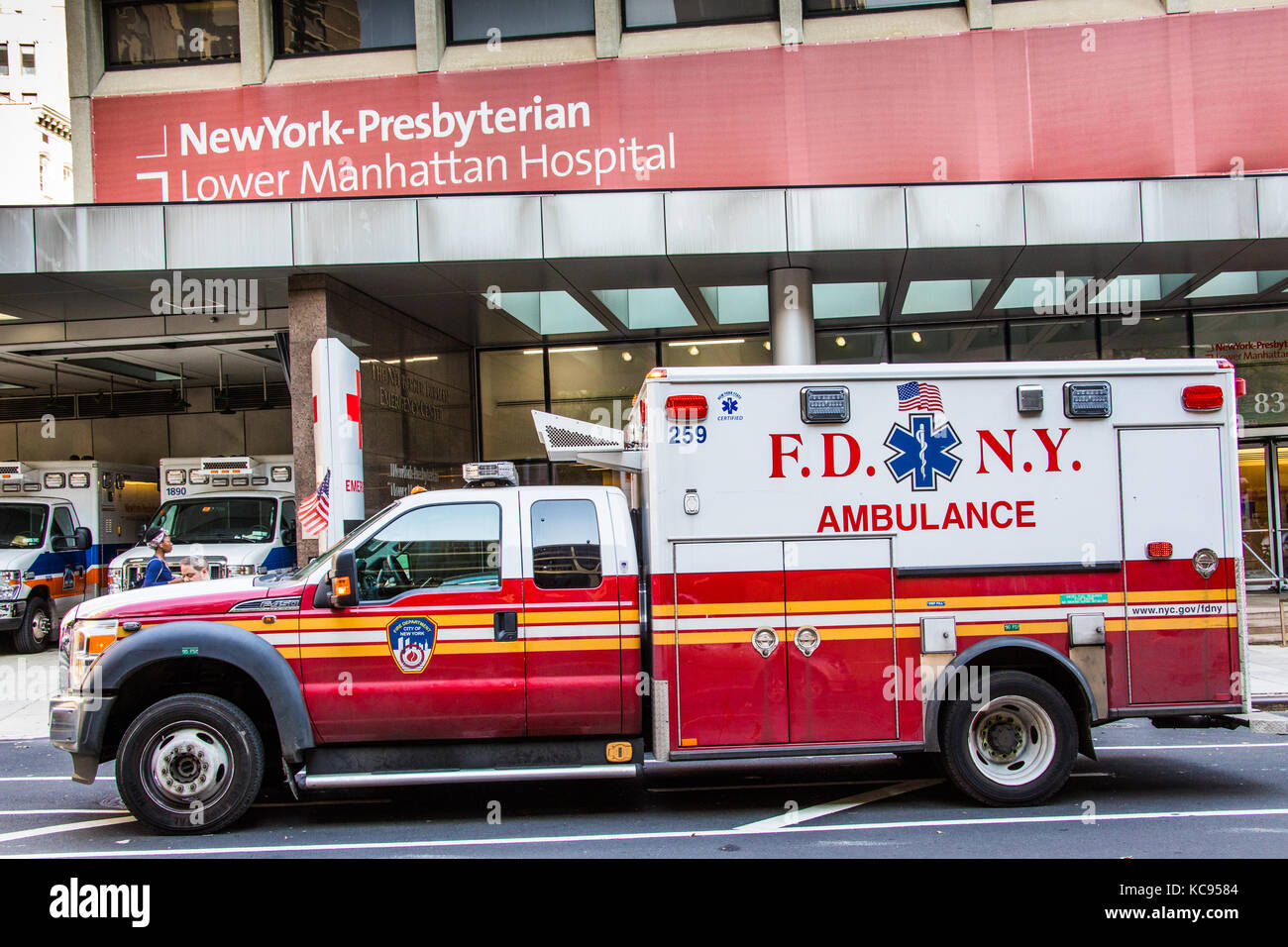 FDNY Ambulance infront of Neww York Presbyterian Hospital