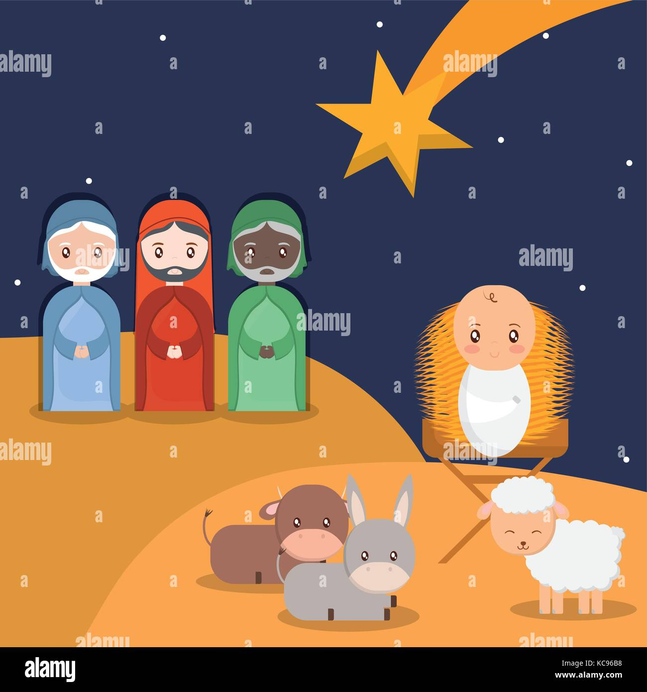 Holy family design - Stock Vector