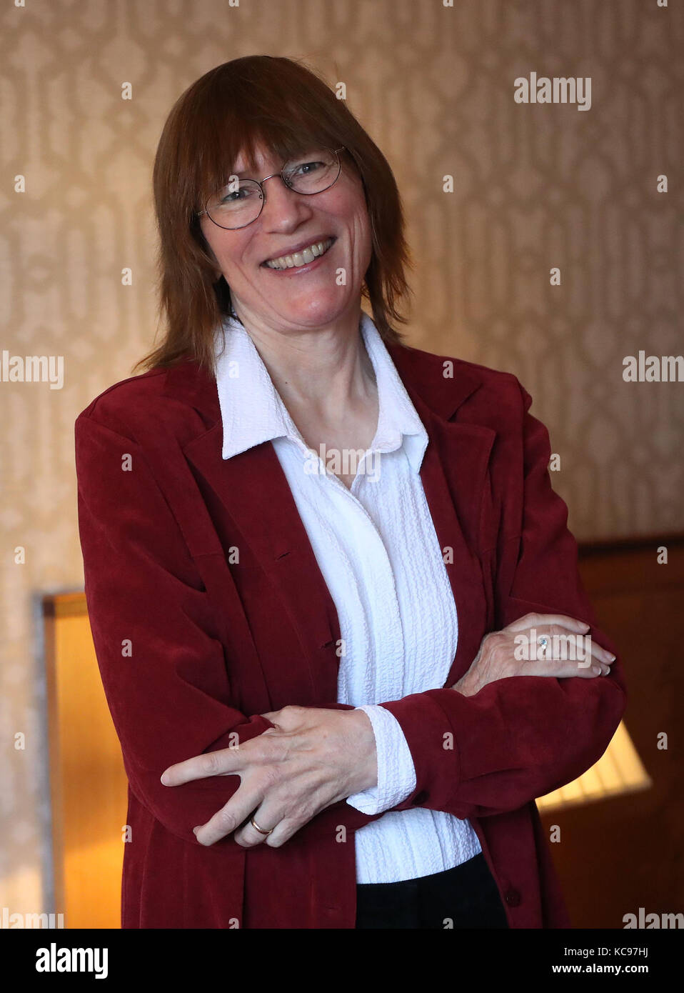 US academic Dr Barb Oakley backstage during the annual Headmasters' and Headmistresses' Conference (HMC) - Stock Image