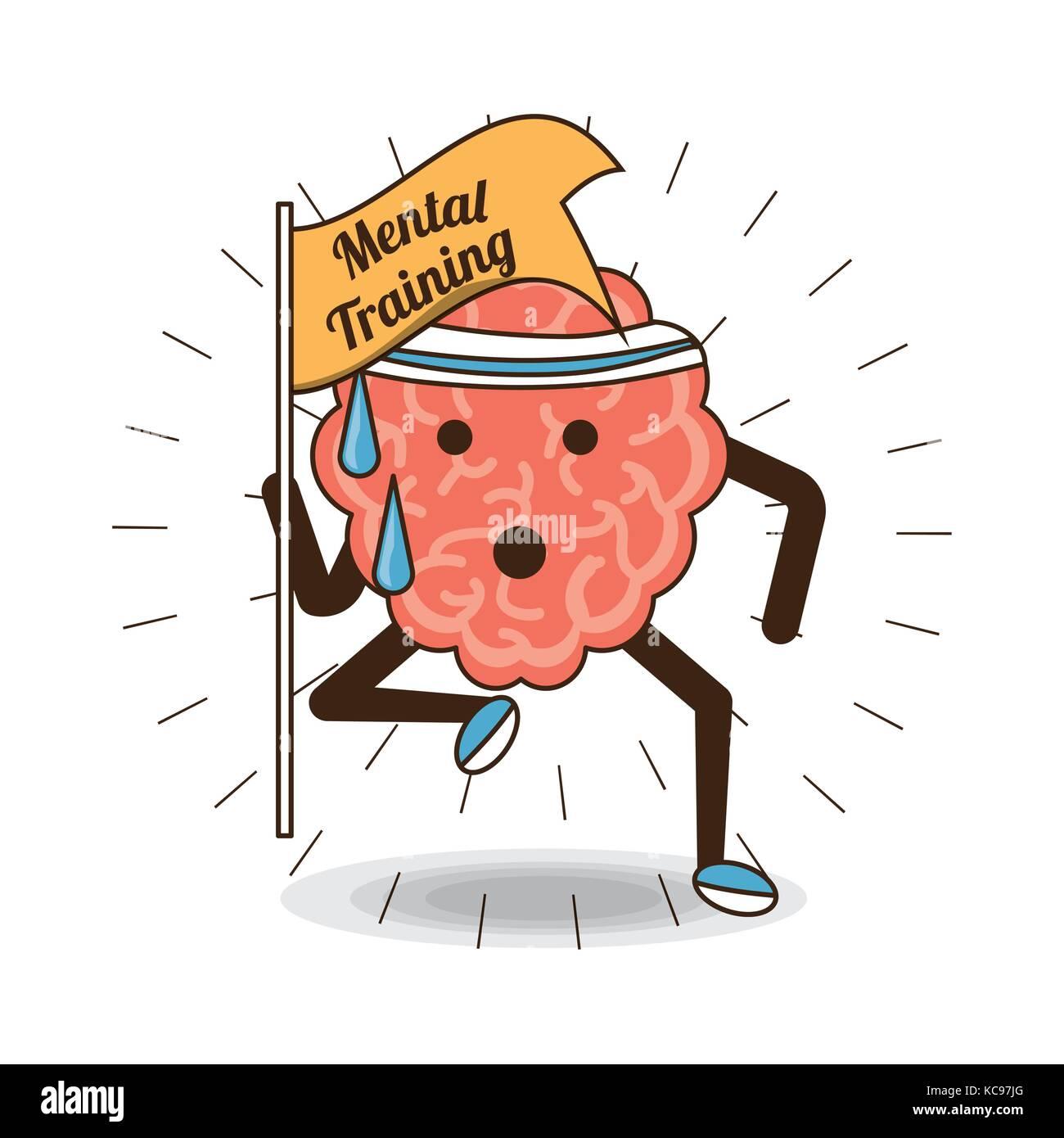 Mental health design - Stock Image