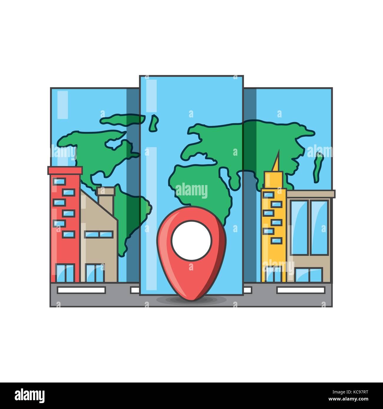 Travel and navigation design - Stock Image