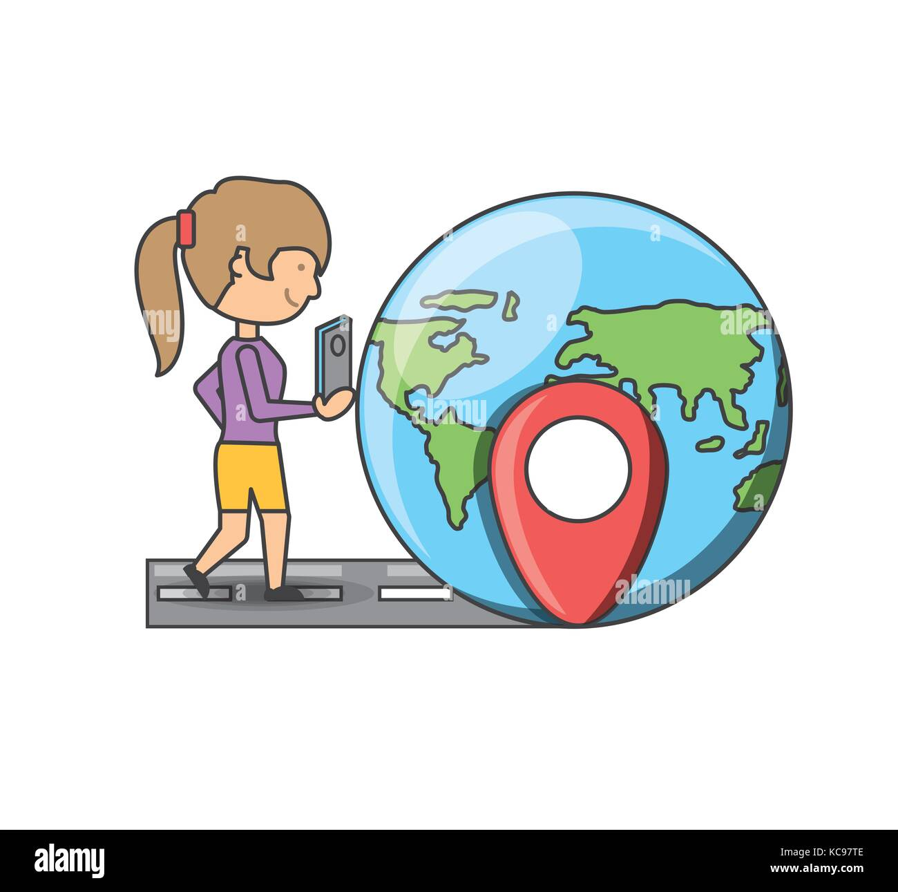 Travel and navigation design - Stock Image