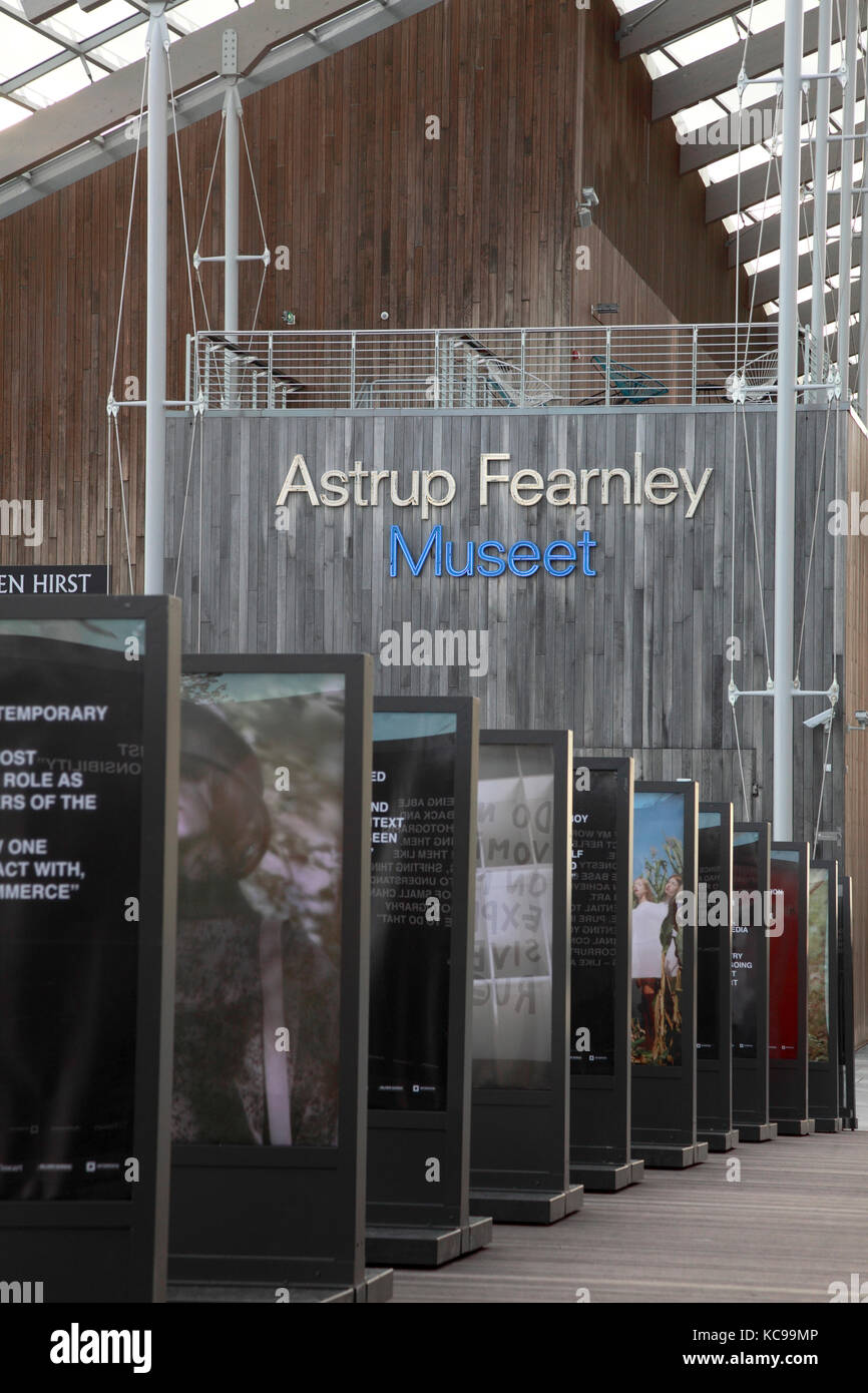 The entrance to the Astrup Fearnley private Museum of Modern Art, designed by Renzo Piano, in Oslo, Norway Stock Photo