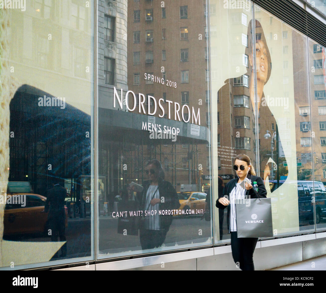 The future home of a Nordstrom Men's shop in Midtown Manhattan in New York on Monday, October 2, 2017.  Shares - Stock Image