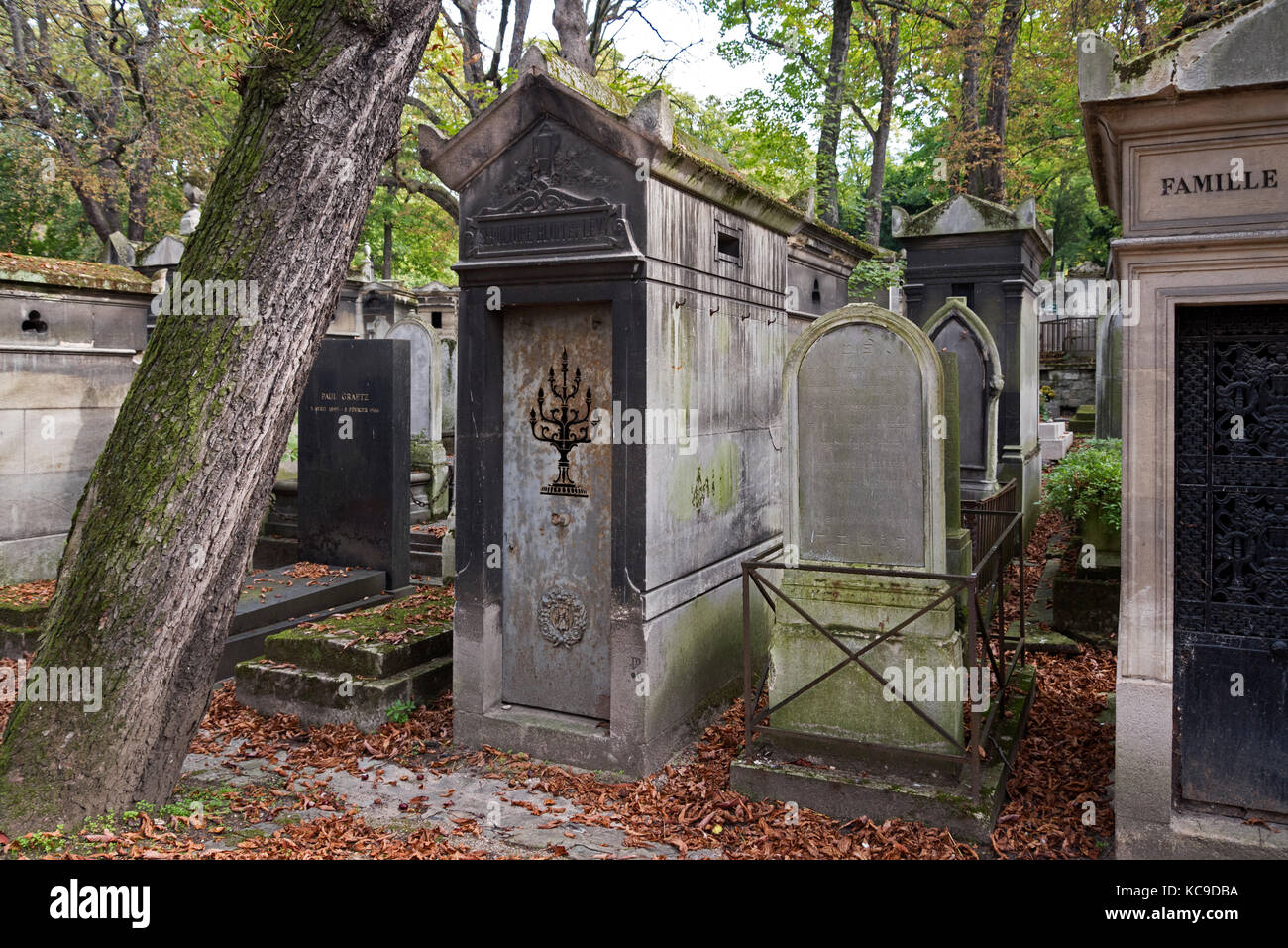 The tomb of Blum and Levy in Pere Lachaise cemetery, Paris, France. - Stock Image