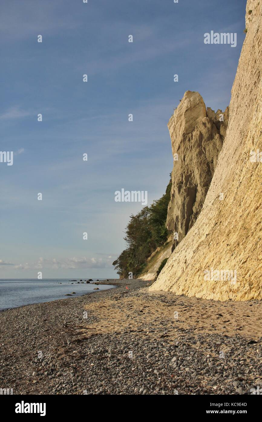 Chalk cliff at the east coast of Denmark. - Stock Image