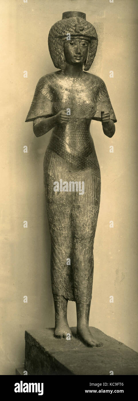 Portrait of Queen Karomama of the Egyptian Bubastile Dynasty - Stock Image