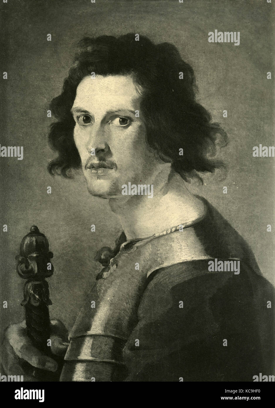 Gianlorenzo Bernini, self-portrait - Stock Image