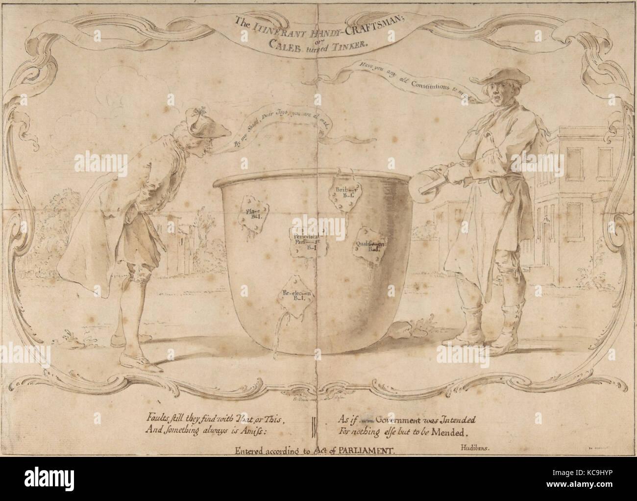 Design For An English Political Satire Hubert Francois Gravelot