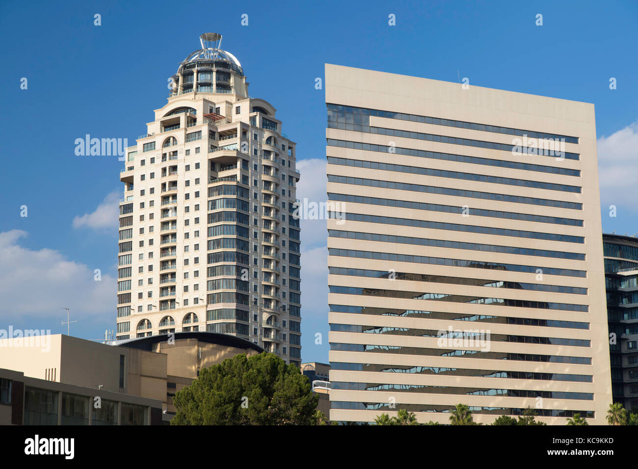Michelangelo Towers and Intercontinental Hotel, Sandton, Johannesburg, Gauteng, South Africa - Stock Image