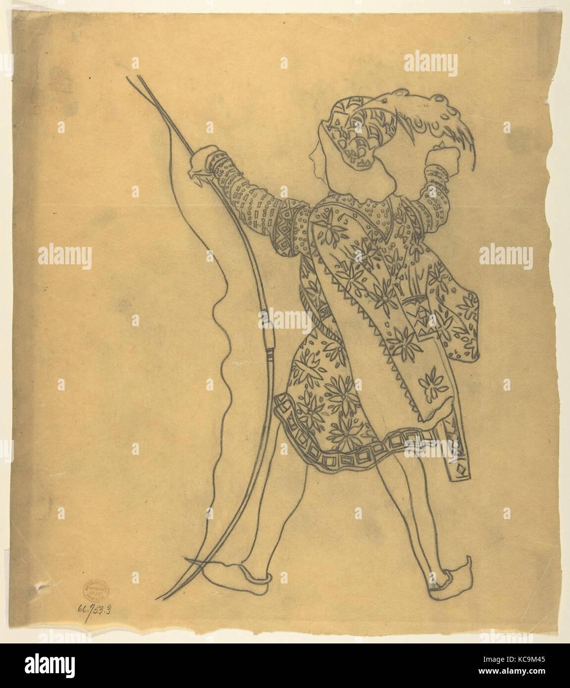 Tracing of a Ballet Costume: St Sebastian, Léon Bakst, 1922 - Stock Image