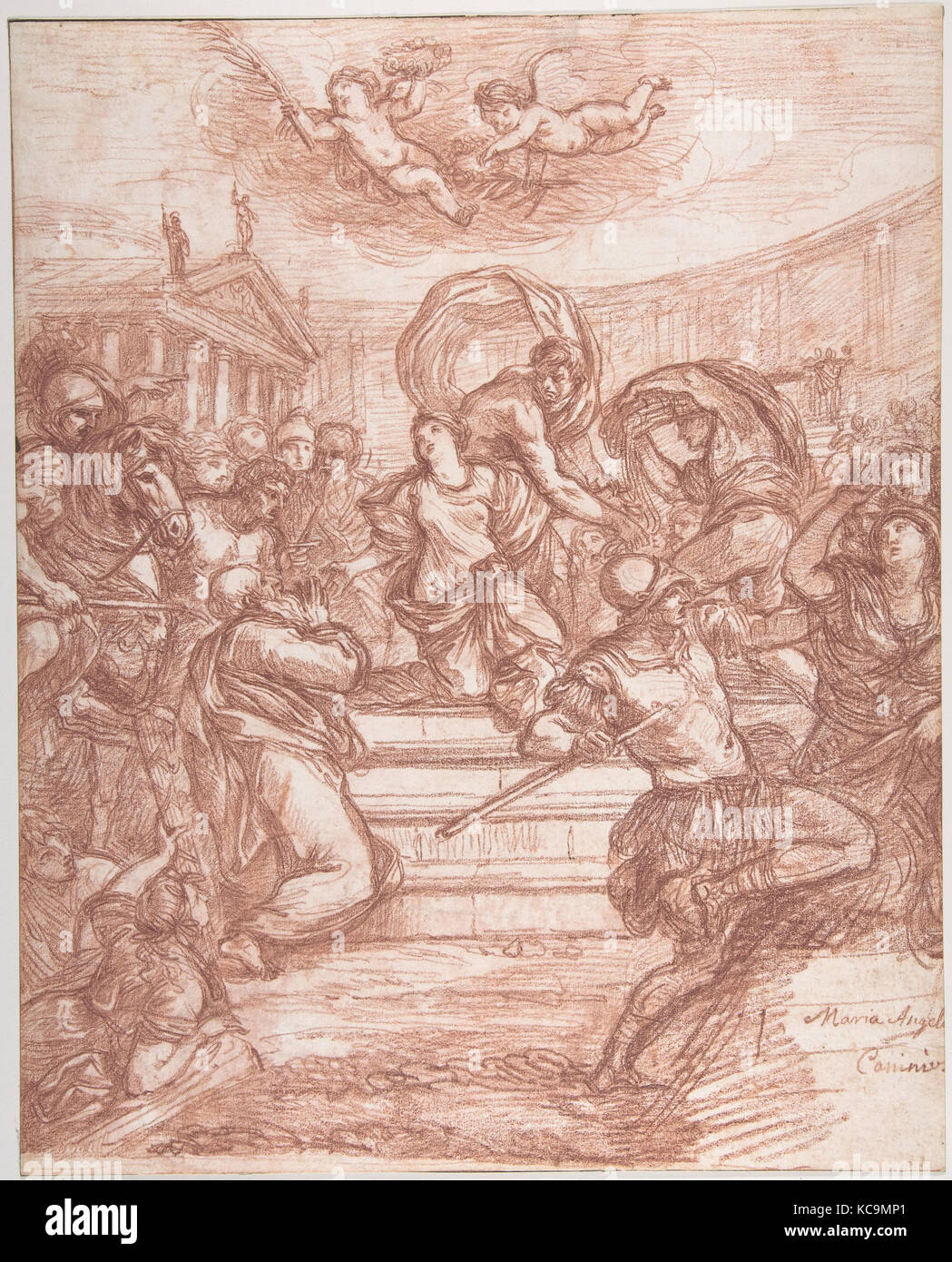 Scene of Martyrdom, after Giovanni Angelo Canini, Jean Robert Ango - Stock Image