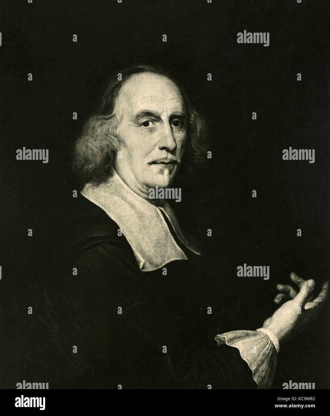 Bernini, portrait by Gauli AKA Baciccio - Stock Image