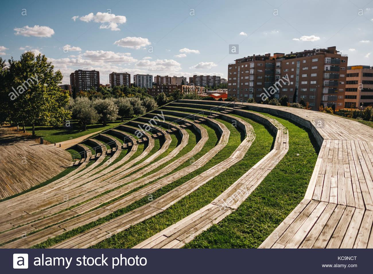 Manzanares Park in Madrid Stock Photo