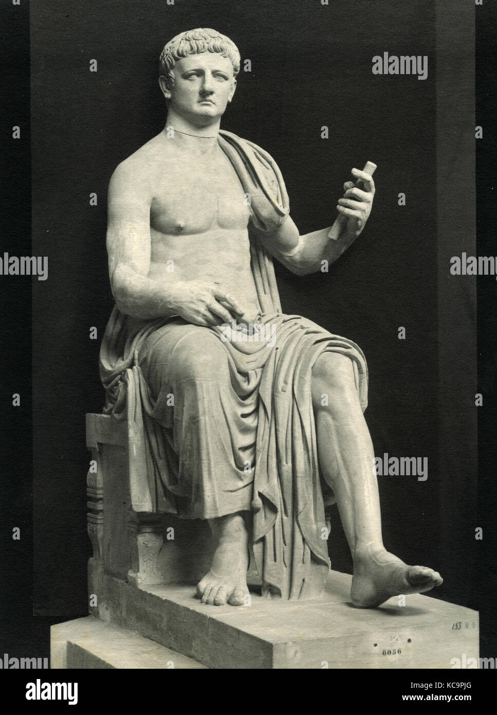 Claudius, marble bust - Stock Image