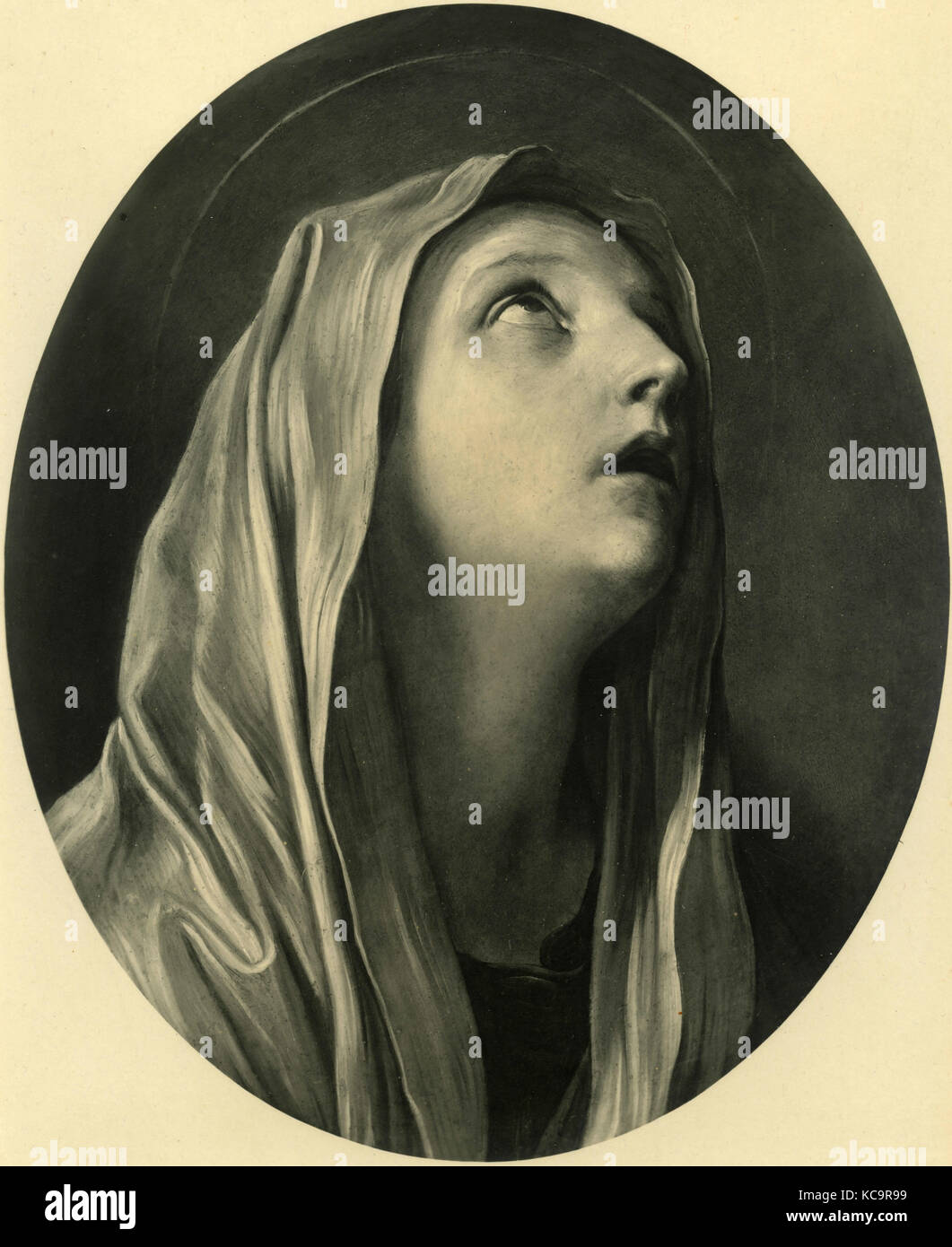 Our Lady of sorrow, painting by Guido Reni - Stock Image
