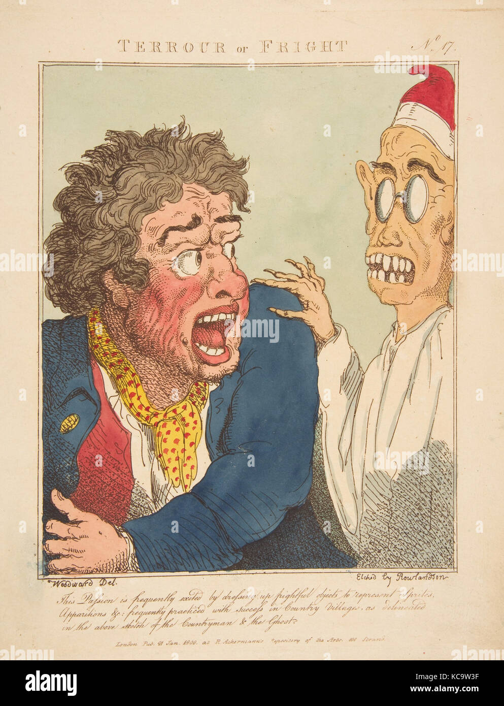 Terrour or Fright, After George Moutard Woodward, January 21, 1800 - Stock Image