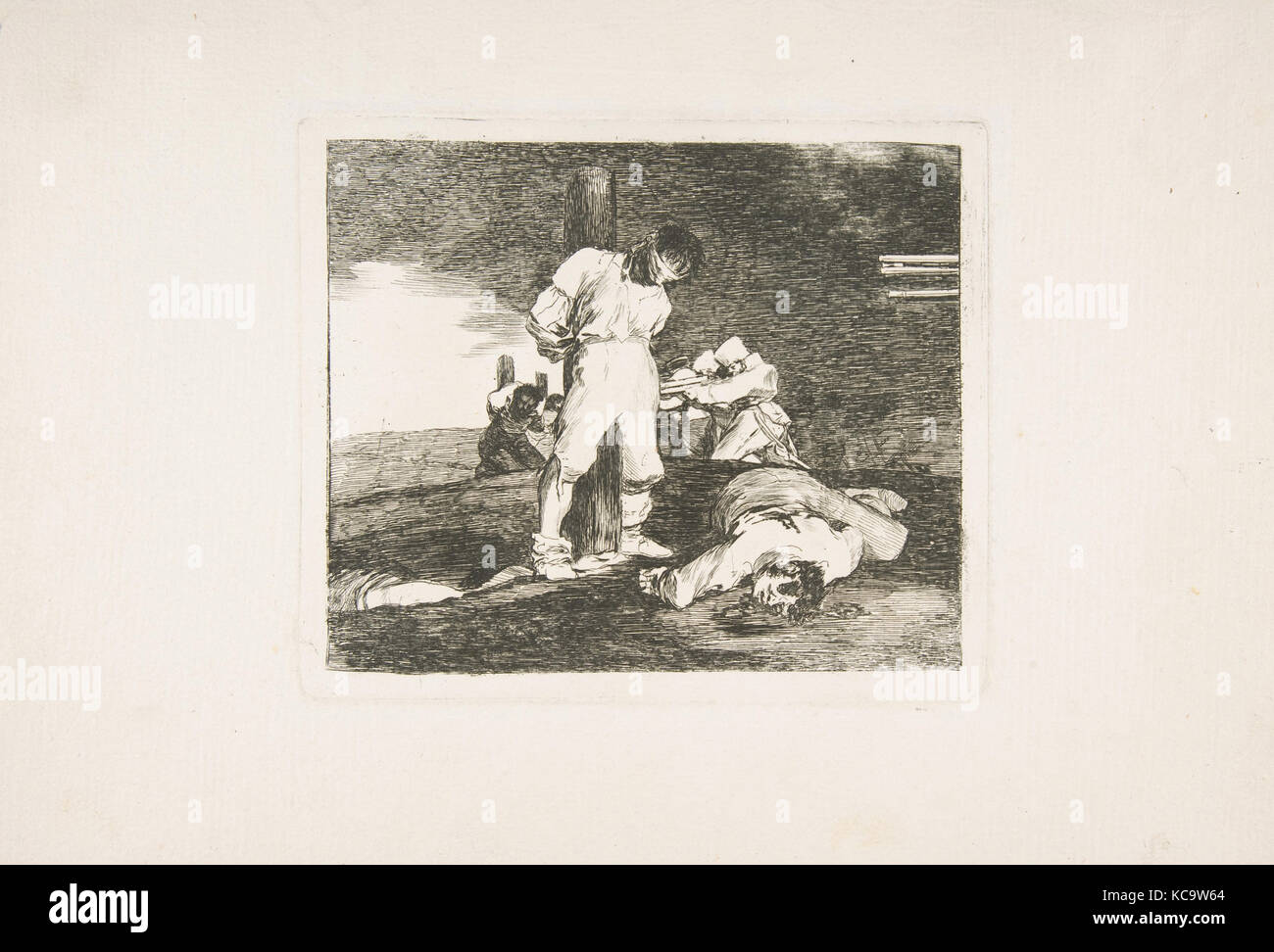 Plate 15 from 'The Disasters of War' (Los Desastres de la Guerra): And there is no help (Y no hai remedio), - Stock Image