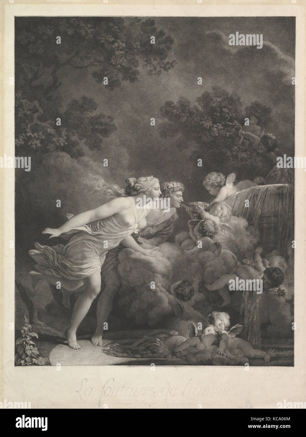 La Fontaine d'Amour, After Jean Honoré Fragonard, 1785 Stock Photo