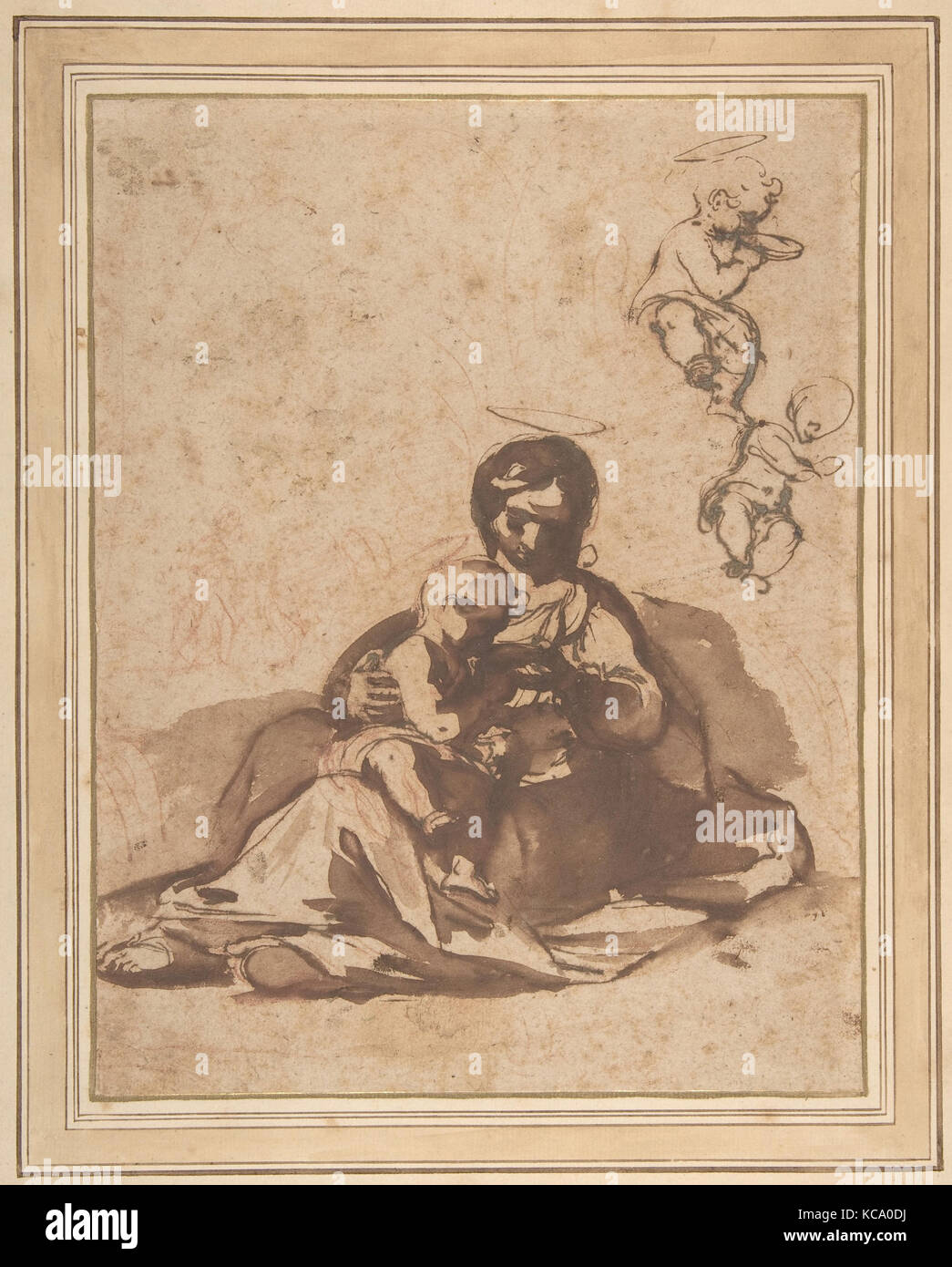 Studies for a Rest on the Flight into Egypt, Rutilio Manetti, 1571–1639 - Stock Image